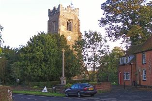 The War Memorial and St Andrew's Church Tower